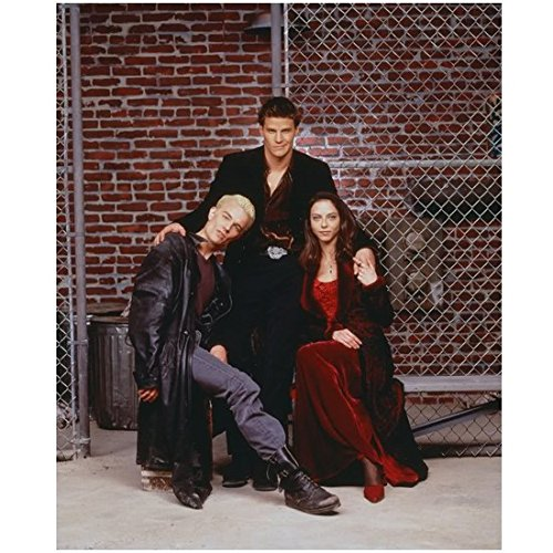 James Marsters 8 x 10 Photo Buffy the Vampire Slayer Spike Black Leather Coat, Drusilla in Red & Angel in Black kn (James Marsters In Buffy The Vampire Slayer)