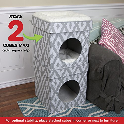 Kitty City Large Cat Bed, Stackable Cat Cube, Indoor Cat House/Cat Condo 5