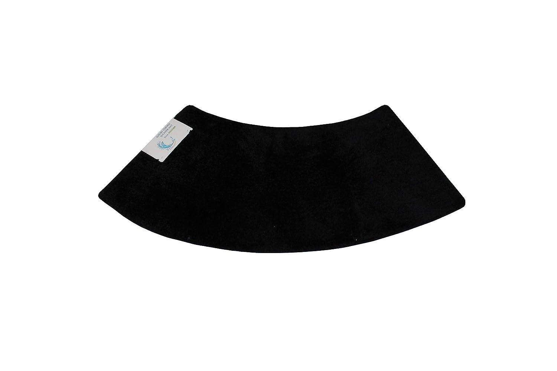 Cazsplash Luxury Quadrant Medium Curved Shower Mat, Microfibre, Black, 110 x 45 x 2.5 cm 706502080358