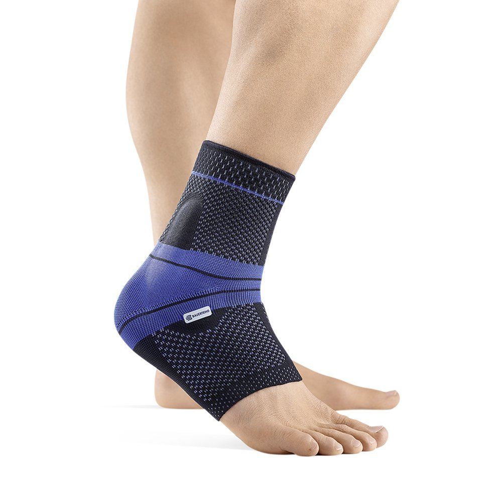 Bauerfeind - MalleoTrain - Ankle Support Brace - Helps Stabilize The Ankle Muscles and Joints for Injury Healing and Pain Relief - Left Foot - Size 1 - Color Black