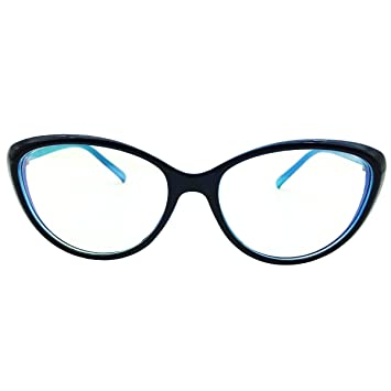 9fbe5cd769 Southern Seas Womens Computer Reading Glasses +1.50 Blue Cateye Style Readers  Anti Blue Ray Anti