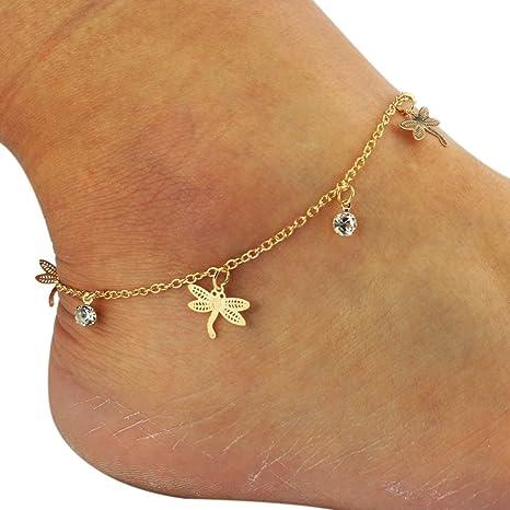 ultimo le migliori marche primo sguardo Homgomco Bracciale alla caviglia da donna con bretelle a forma di ...