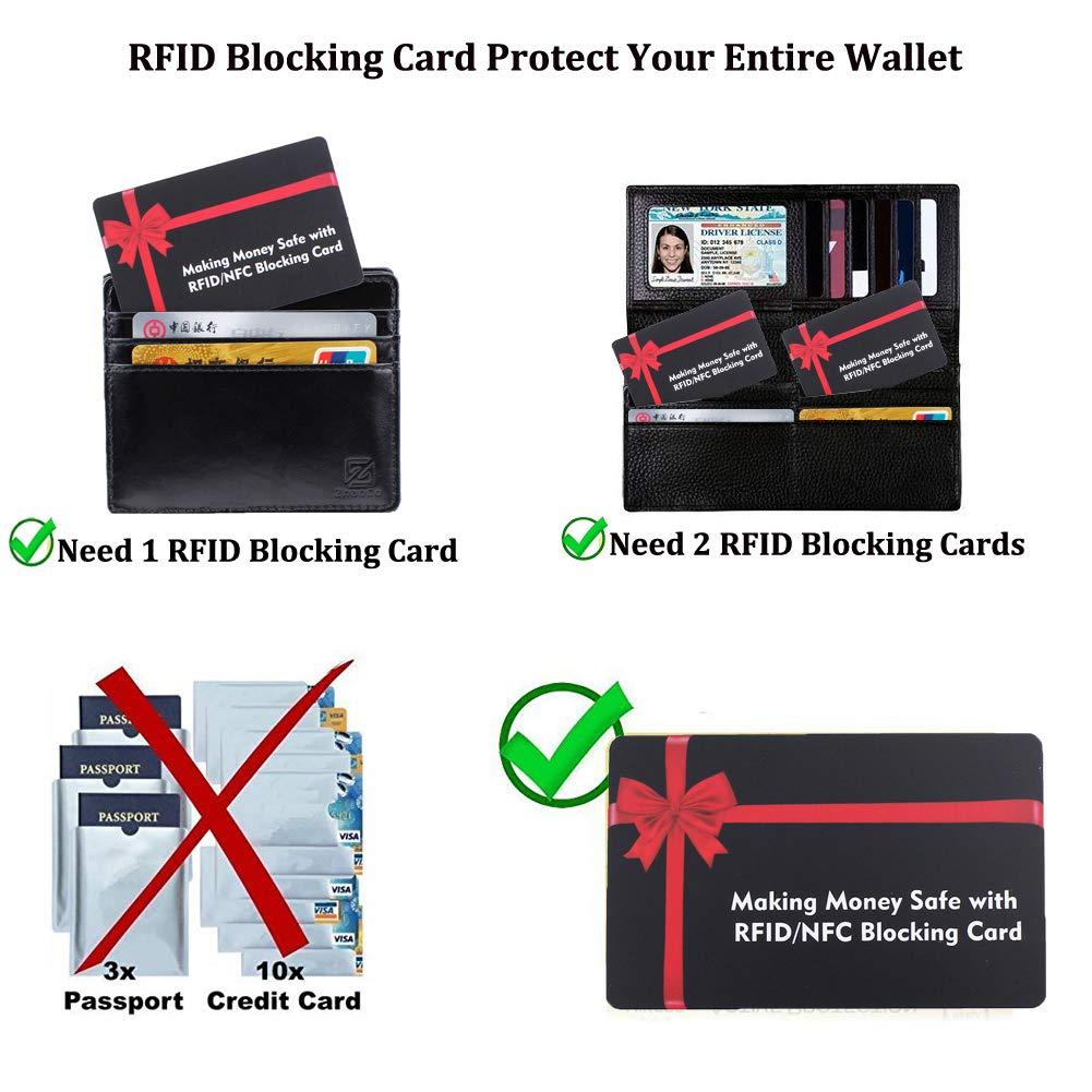 ZhaoCo Protector de Tarjeta para Cartera Billetera Pasaporte Negro Tarjetas Anti RFID Protecci/ón Tarjetas de Cr/édito Sin Contacto NFC Tarjeta de Bloqueo RFID x 2