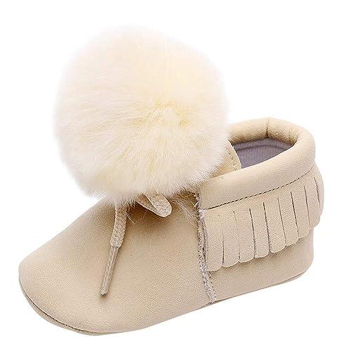 ❤ Amlaiworld Zapatos de Bebe Recién Nacido niñas Borla sólida ...