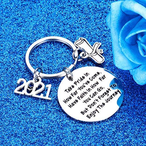 Enjoy the Journey keychain High School Graduation gift Graduation keychain Graduation 2021 College graduation 2021 Graduation 2021