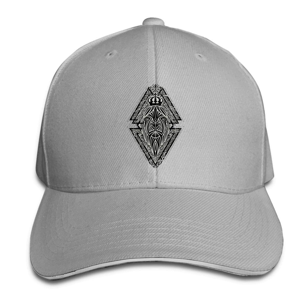 Lion Shield Classic Adjustable Cotton Baseball Caps Trucker Driver Hat Outdoor Cap Gray
