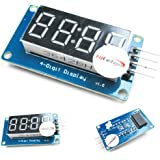 HiLetgo® 3個セット 0.36 インチ 4ビット デジタル LED チューブモジュール 共通アノードとクロックディスプレイ TM1637 [並行輸入品]