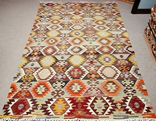 Decorative Vintage Kilim rug 10,4x5,3 feet Area rug Old Rug Bohemian Kilim Rug Floor rug Sofa Decor Rustic Kilim Rug