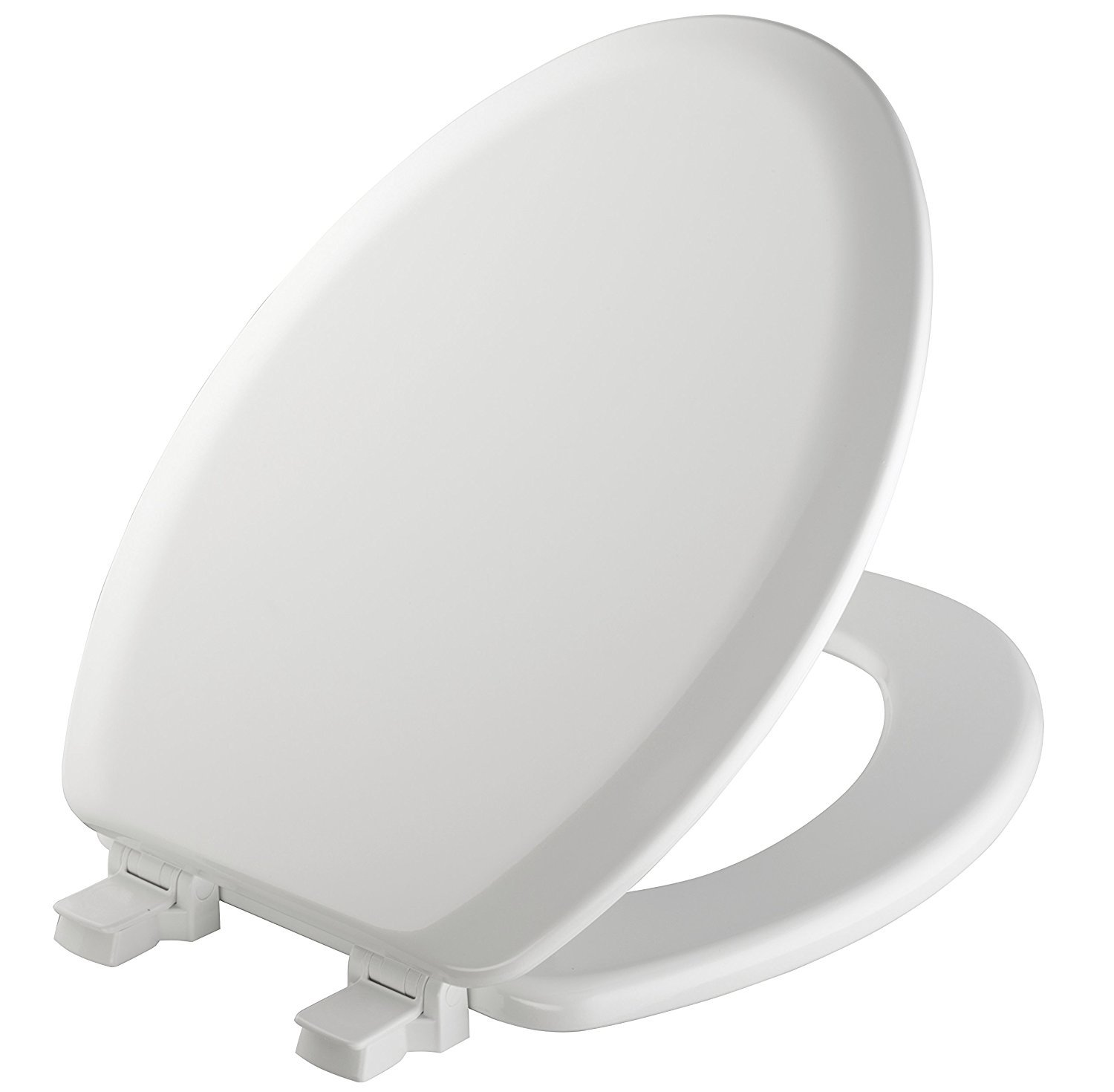 MAYFAIR  Toilet Seat will Never Loosen and Easily Remove, ELONGATED, Durable Enameled Wood, Biscuit/Linen, 141EC 346