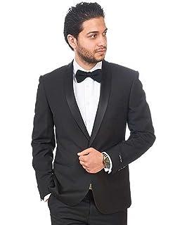 Slim Fit Checkered Plaid Grey Mens Suit 1 Button Peak Lapel No Pleat 1696 AZAR