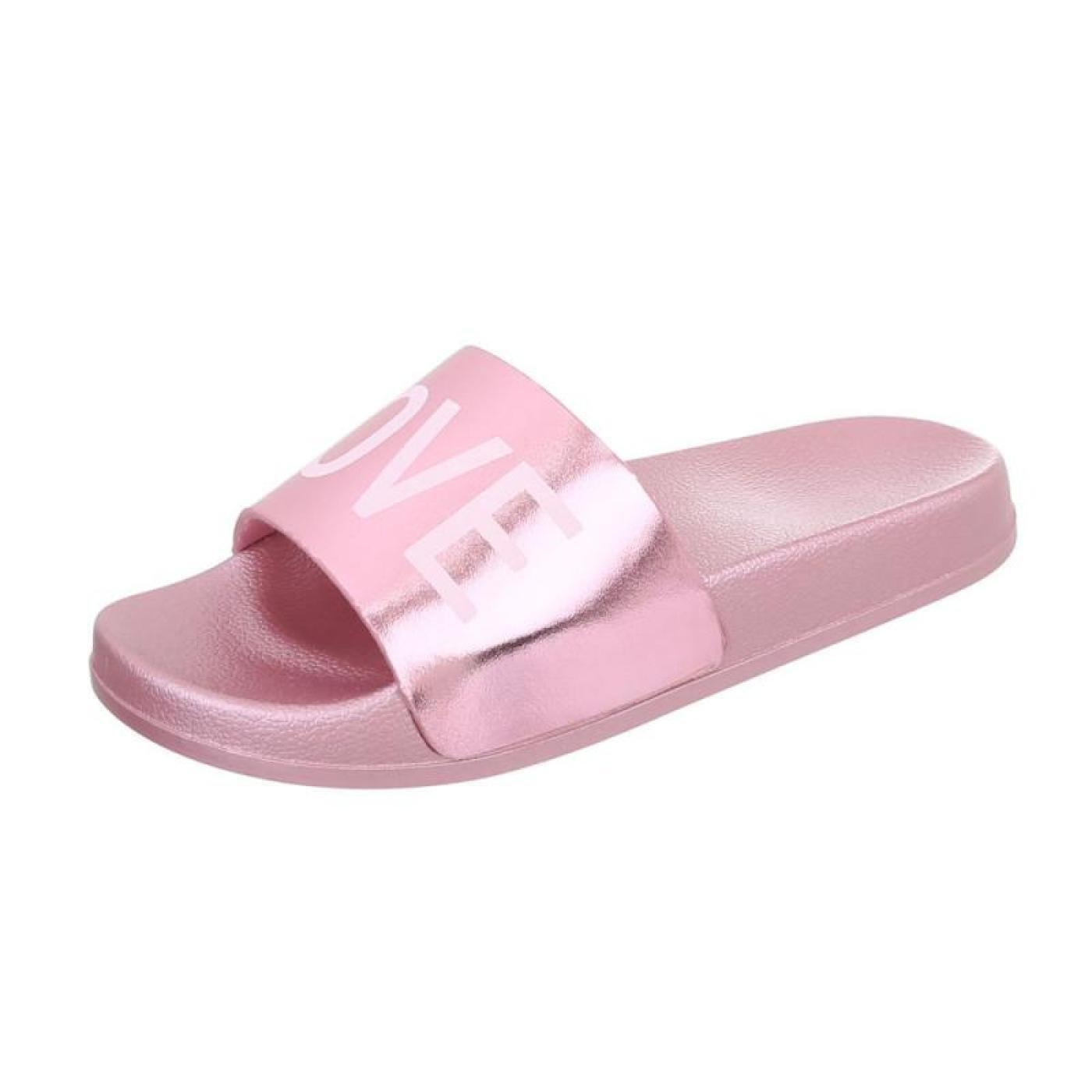 Cingant Woman Damen Latschen/Flache Sohle/Sommerschuhe/Bequeme Freizeitschuhe/Sandale/Pink/Rosa