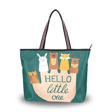 72171cbbcb My Daily Women Tote Shoulder Bag Cute Animals Finger Puppets Handbag Medium
