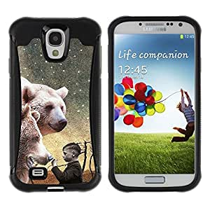 "Pulsar iFace Series Tpu silicona Carcasa Funda Case para Samsung Galaxy S4 IV I9500 , Oso Polar White Night Pintura Boy"""