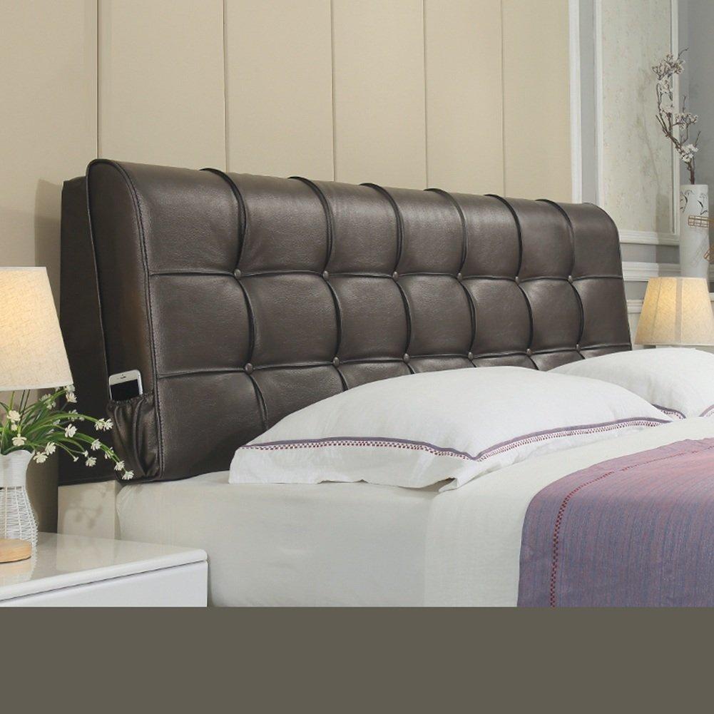 LIXIONG ヘッドボードクッション ベッドサイドソフトパッケージ 枕 シングルまたはダブル 大型背もたれ 頚椎 パッド ウエストパッド 、ベッドサイドカバー 8色、8サイズ (色 : Black-brown, サイズ さいず : 120*58cm) B07CCNVN9R 120*58cm|Black-brown Black-brown 120*58cm