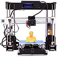 3D Printer, Perfectink A8-W5 Pro Aviation Wood High Precision LCD Screen Desktop DIY 3D Printers Printing Machine Kit with Free 1.75mm ABS/PLA Printer Filament(Build Size 220×220×240mm)