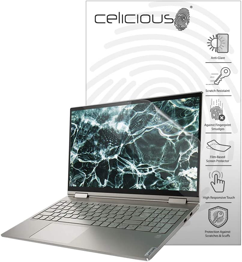 Celicious Matte Anti-Glare Screen Protector Film Compatible with Lenovo Yoga C740 15 [Pack of 2]