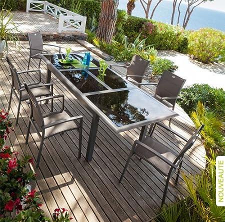 Table et fauteuils de jardin Hespéride AZUA, Champagne ...