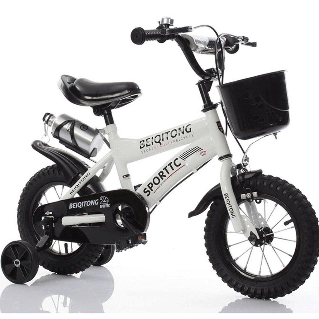 DGF 子供の自転車2-3-4-6-7-8-9-10歳の自転車の赤ちゃんの女の子の赤ちゃんのキャリッジ14161820インチの赤ちゃんの自転車 (色 : 白, サイズ さいず : 18 inches) B07F13HJP3 18 inches|白 白 18 inches