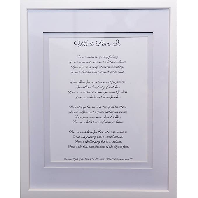 Love Poems by Anna Szabo #PoemsFromGod What Love Is framed poetry for Prayer Hallway