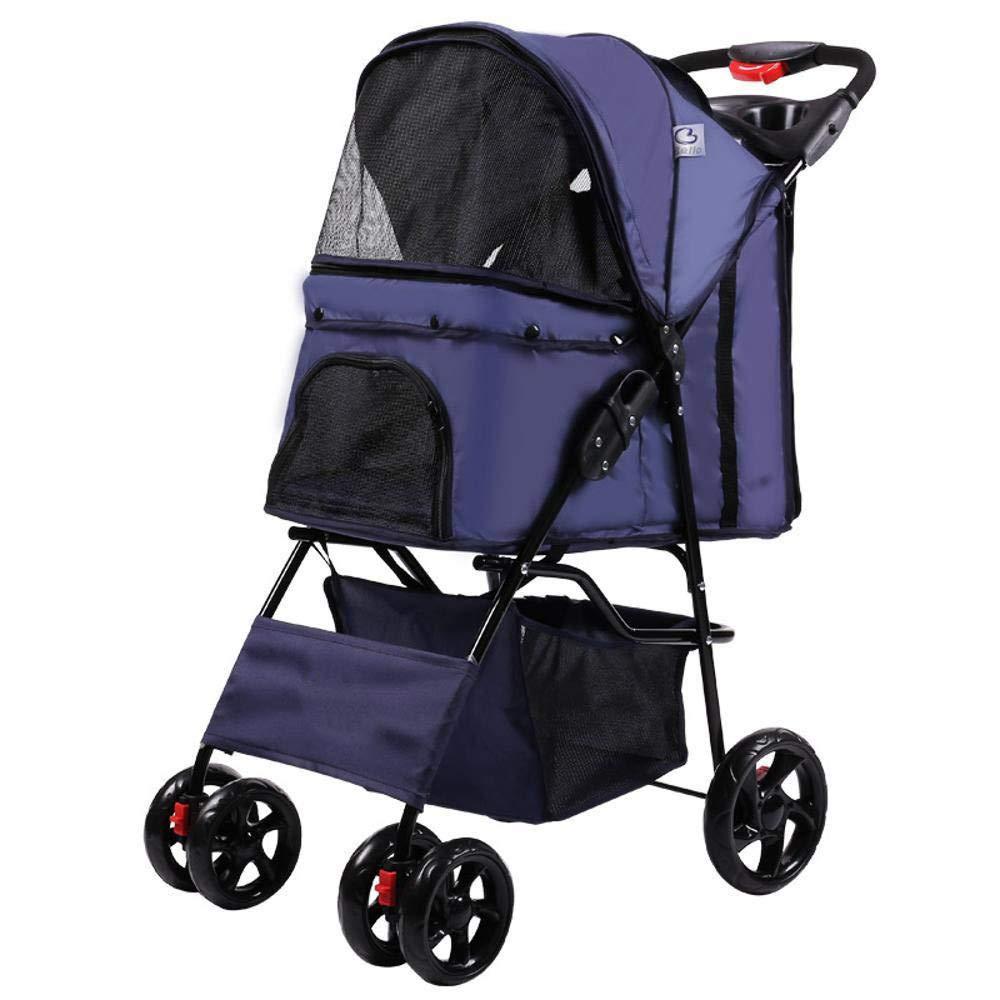 A Lozse Pet Stroller Dog Pushchair Four Wheel light folding cat dog Pet General