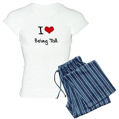 Amazon.com: CafePress - I love Being Tall Pajamas - Womens Novelty ...