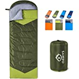 oaskys Camping Sleeping Bag - 3 Season Warm & Cool Weather - Summer, Spring, Fall, Lightweight, Waterproof for Adults…