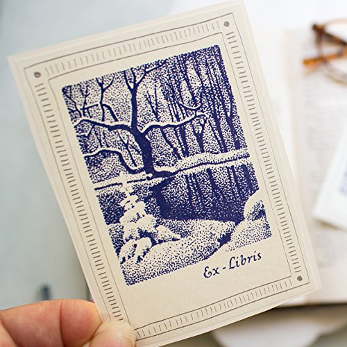 Winter Snow Bookplate Stickers personalized book labels set of ten