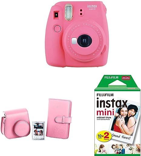 Fujifilm Instax Mini 9 - Cámara instantánea, Rosa + Kit de ...