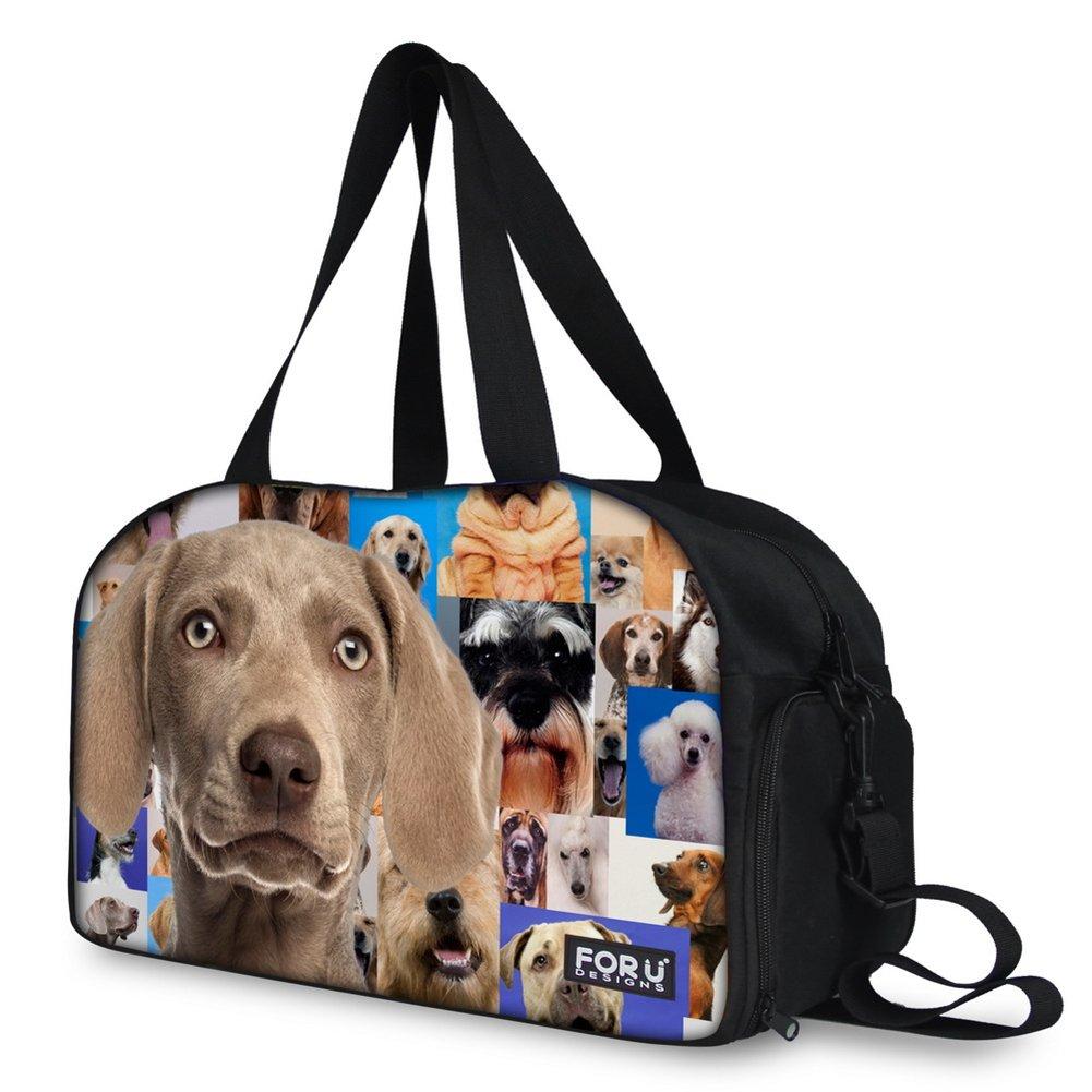 FOR U DESIGNS Cute Animal Style Lightweight Multifunctional Travel Gym Duffel Bag