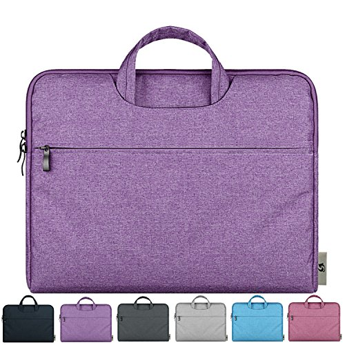 Litop® 13.3'' 13-13.3 Inch Waterproof Fabric Notebook Sleeve Laptop Bag Case with Handle for 13 Inch Apple MacBook Pro 13.3 Inch With Retina Display Macbook Air 13 Ultrabook