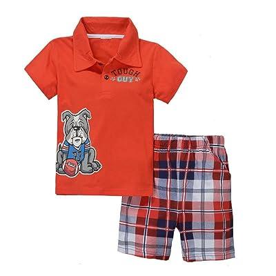 Baby Box Baby boys' Short Sleeve Infant Clothing Set T-shirt + Short pants