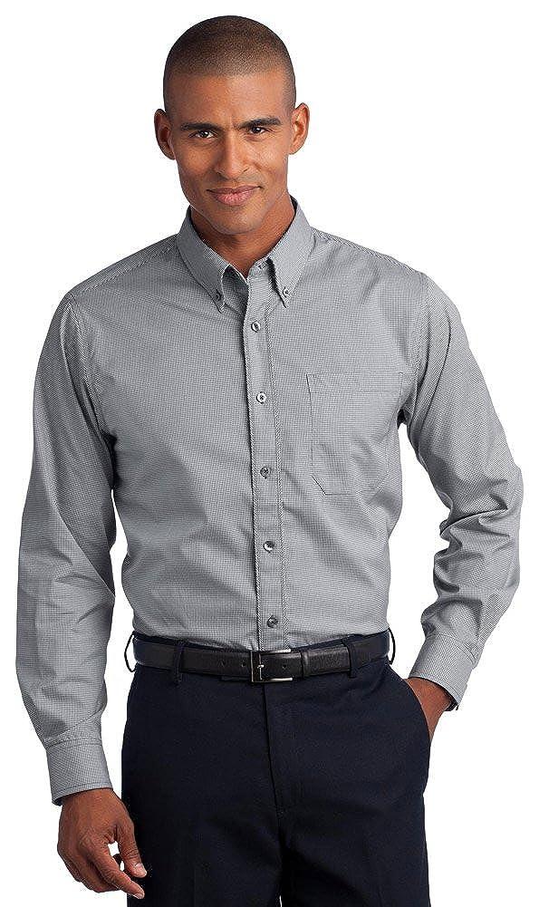 Red House Mens Mini-Check Non-Iron Button-Down Shirt