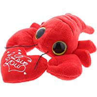 "DolliBu Cute Stylish Small Red Lobster ""I Love You"" Heart Message Valentines Soft Plush Cushy Doll Huggable Decorative…"