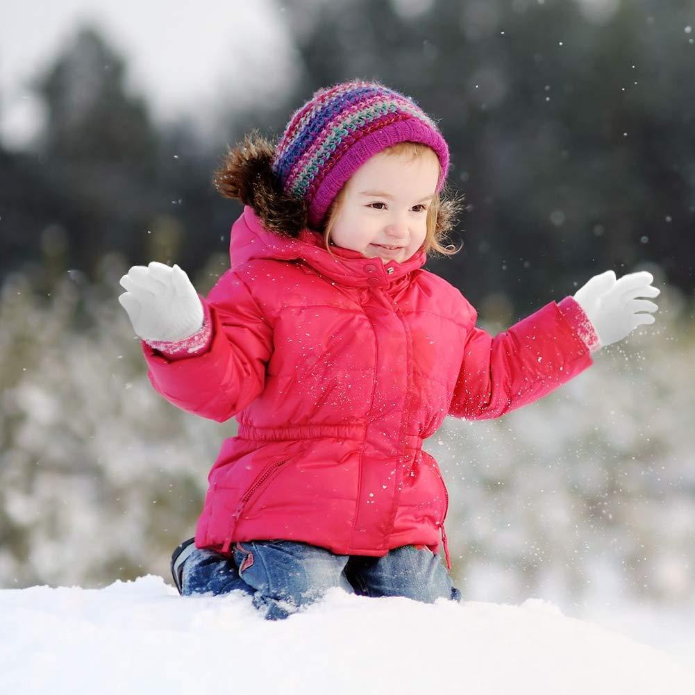 WXJ13 12 paia di guanti magici per bambini elasticizzati e caldi guanti magici per bambini e ragazze