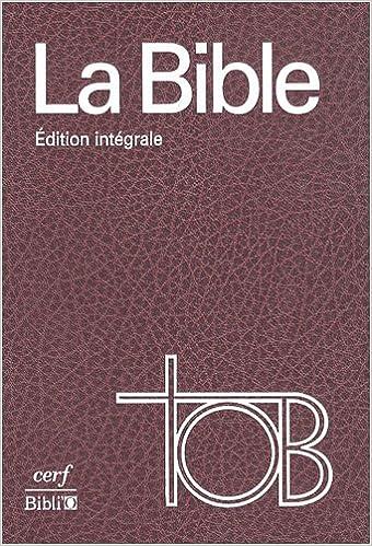 BIBLE TÉLÉCHARGER TOB SAINTE LA
