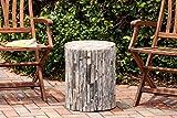 Patio Sense 62420 Garden Stool, Elyse Natural Round