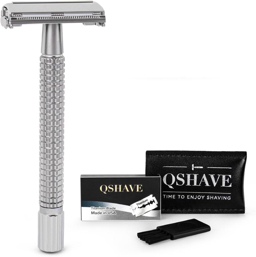 QSHAVE cuchilla de afeitar con sistema de seguridad de mariposa y ...