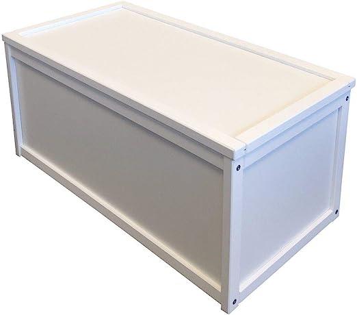 Caja para guardar juguetes, con un diseño de madera, de color ...