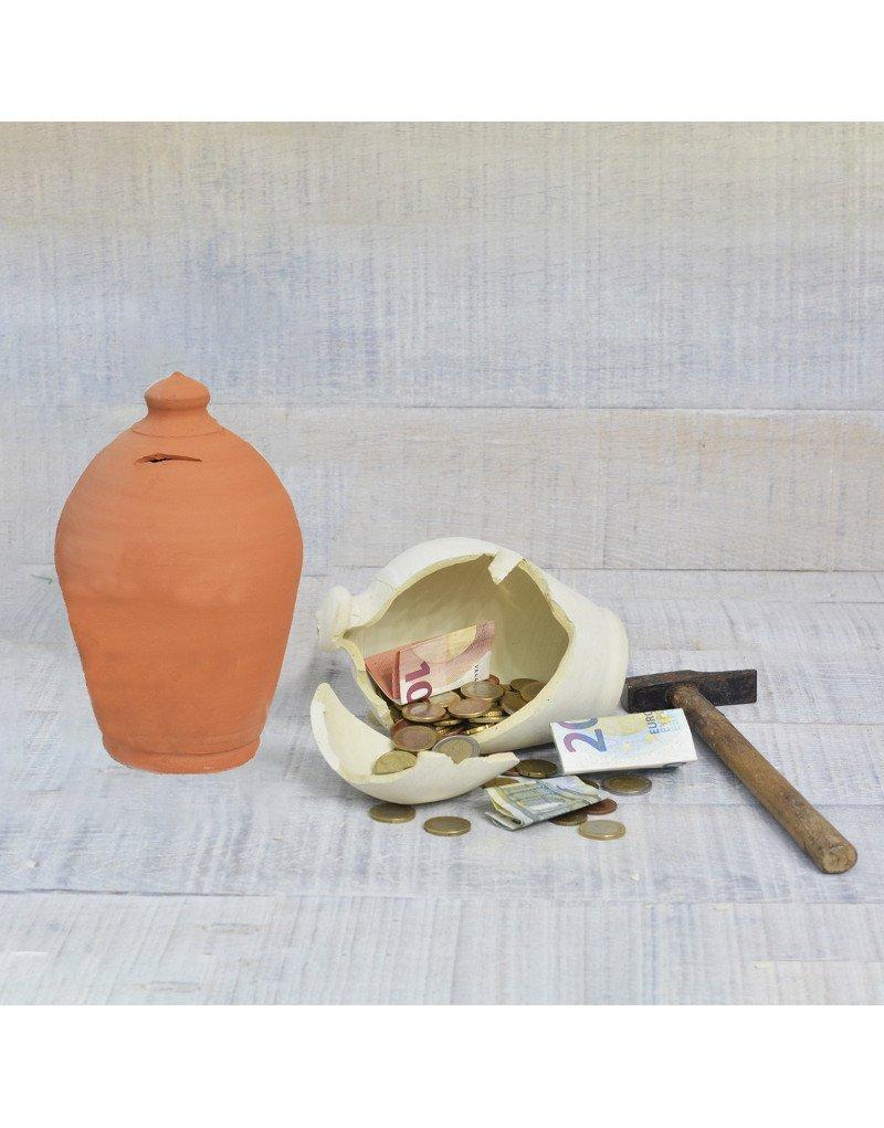 Hogar y m/ás Modelo Tradicional Fabricado en Espa/ña Hucha Artesanal Blanca Grande