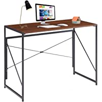 Writing Computer Desk Modern Simple Study Desk Industrial Style Folding Laptop Table for Home Office Notebook Desk Brown…