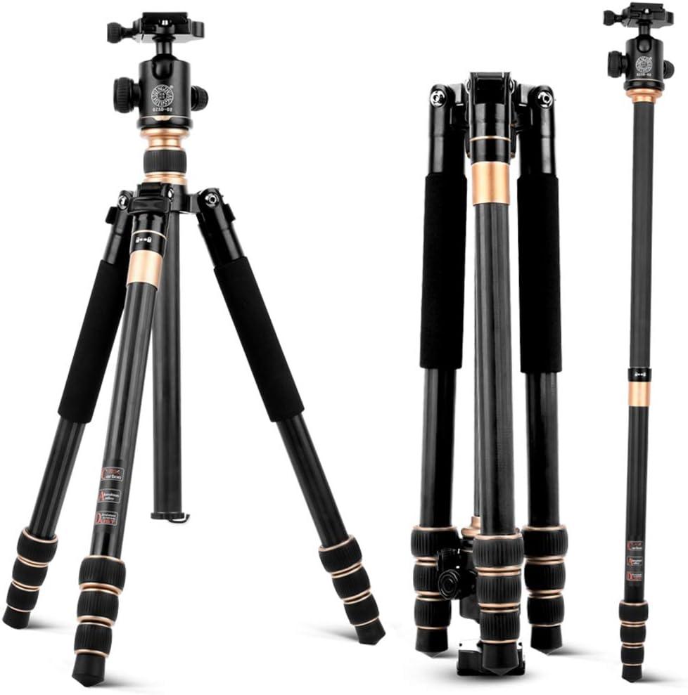 QZSD Q222C Compact Carbon Photography Equipment Tripod with Ball Head f//Camera