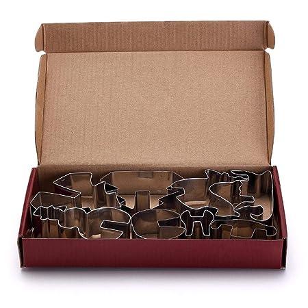 Amazon.com: Viaste - Molde para galletas en 3D (8 unidades ...