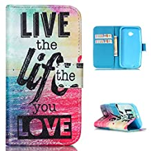 "Motorola Moto E2 case (2nd gen), Moto E+1,XT1527 cover - 4.5"", ANGELLA-M Flip PU Leather, Magnetic Wallet Case, [Folio Stand] & Card Slots. [Personality Fashion]"