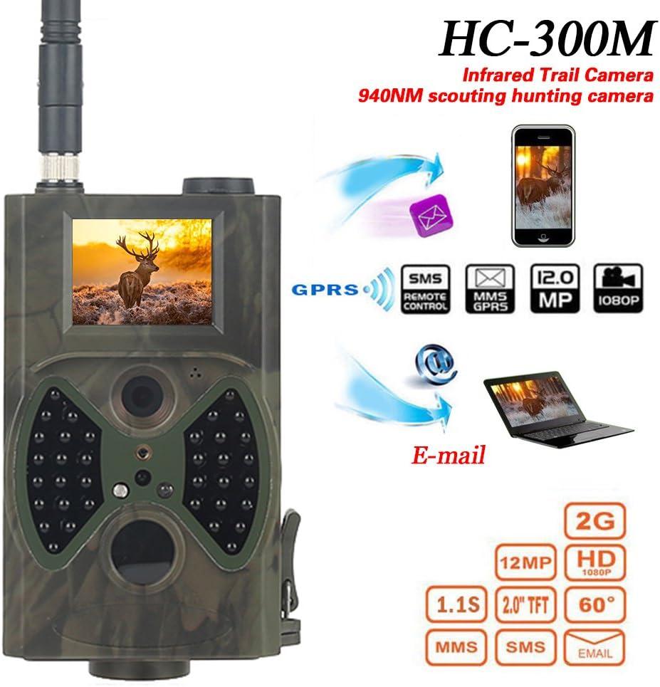 Video Nachtsicht MMS GPRS Scouting Infrarot Spiel Hunter Cam ZUHANGMENG Farm /Überwachungskamera 1080P HD Jagdkamera HC300M Jagd Trail Kamera