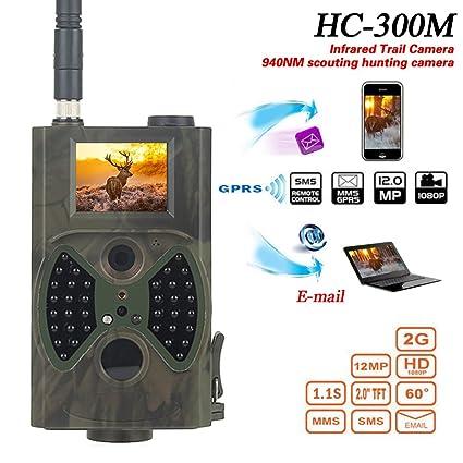 Turefans 3G 12MP HD Lleno Trailcamera HC-300M Negro desencadenar 0,5 seg cámara