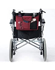 Fushida Walker Bag - Wheel Chair Pouch for Standard Walkers, Wheelchairs, Bariatric Walkers, and Dual-Point Folding Walkers - Keeps Your Necessities, Accessible and Organized (Red, FGJ521-CA)