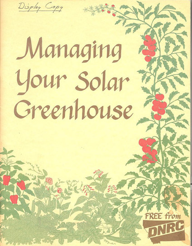 Managing your solar greenhouse