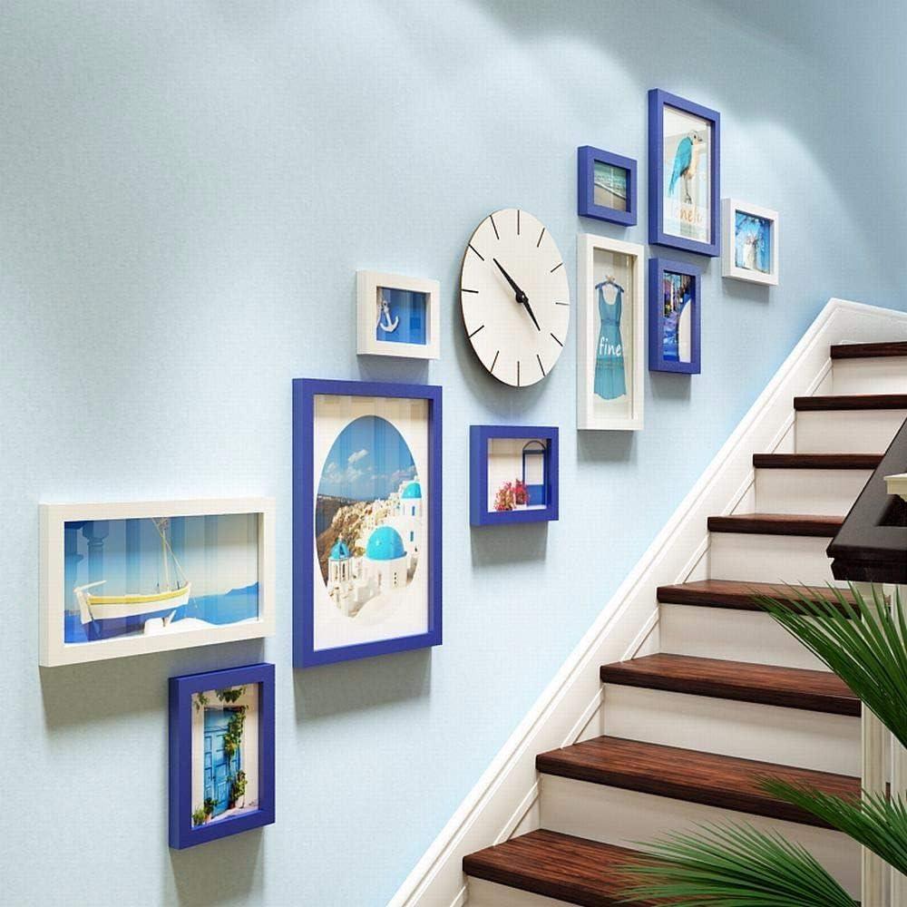 FortuneVin Verificar- en Escalera Combo-Box Fotos Apartamento Photosi, Moderno Reloj de Pared para Salón Dormitorios Cocina Office Relojes Colgantes: Amazon.es: Hogar