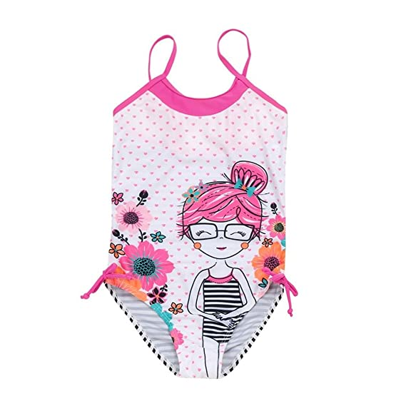 Bañador Niña K-Youth® Verano Conjunto de Bikini Niñas Traje de Baño Niña Bikini Conjunto de baño Dibujos Animados Bañador de una Pieza para Niña Bebé ...