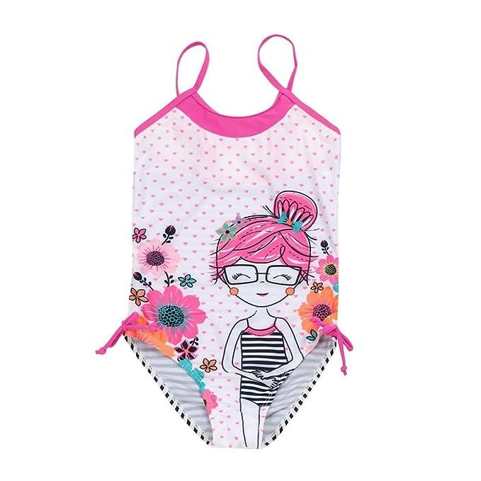 91701438b96f Bañador Niña K-Youth® Verano Conjunto de Bikini Niñas Traje de Baño Niña  Bikini Conjunto de baño Dibujos Animados Bañador de una Pieza para Niña  Bebé ...